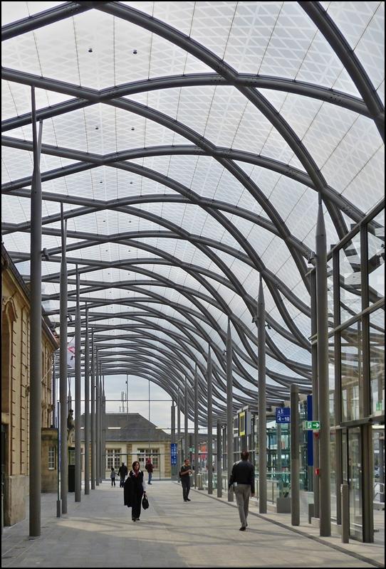 Da das empfangsgeb ude des bahnhofs von luxemburg stadt - Architekten luxemburg ...