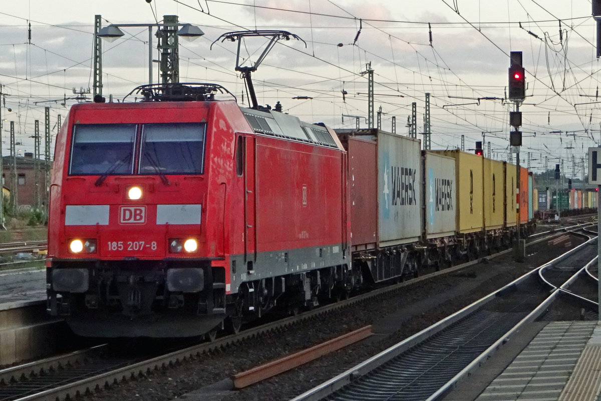 Am 20 September 2019 dönnert 185 207 durch Celle.