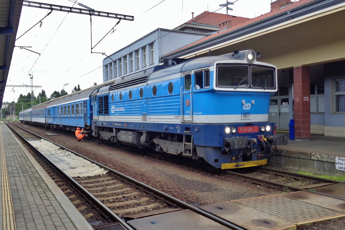 CD 754 041 steht am 15 September 2017 in Klatovy.