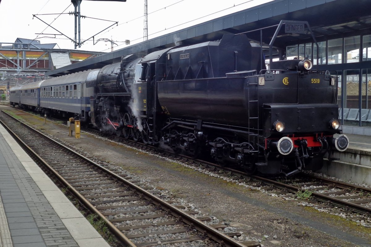 CFL 5519 steht am 29 April 2018 in Luxembourg-Ville.