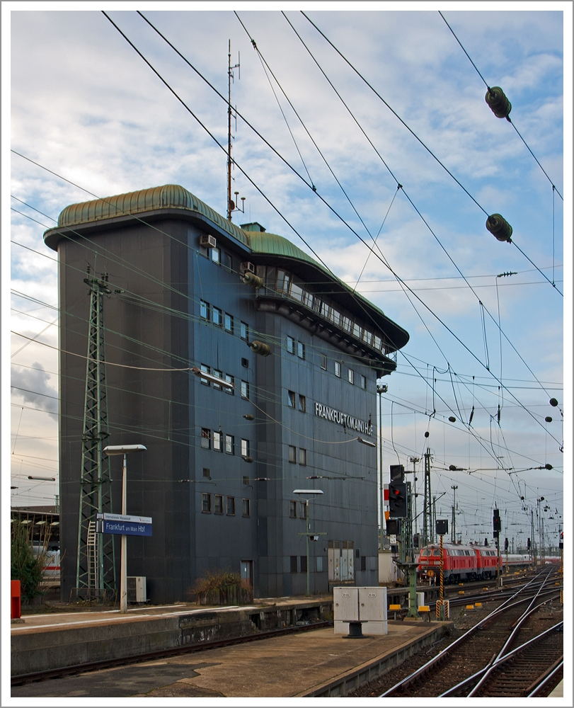das stellwerk frankfurt am main hbf am das 20 meter hohe bauwerk wurde 1957 gebaut. Black Bedroom Furniture Sets. Home Design Ideas