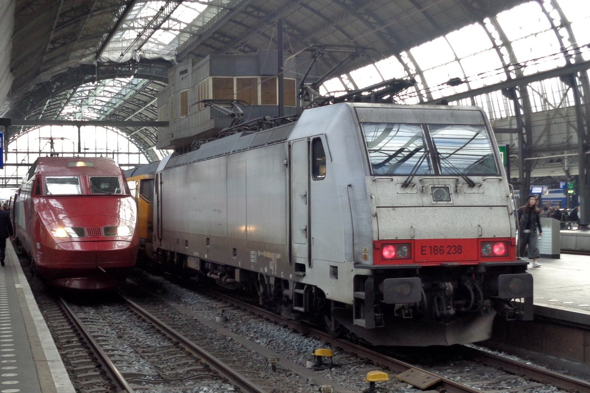Macquirie 186 238 steht am 4 November 2017 in Amsterdam Centraal.
