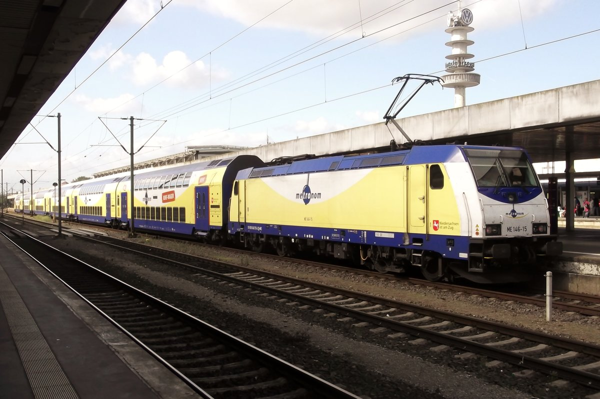 ME 146-15 steht am 25 September 2014 in Hannover Hbf.