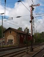 Lokschuppen/173902/der-rest-vom-ehem-lokschuppen-kreuztal Der Rest vom ehem. Lokschuppen Kreuztal an der Ruhr-Sieg-Strecke KBS 440, hier am 18.09.2011.