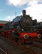 br-38-preuss-p-8/173906/die-38-1772-ex-db-038 Die 38 1772, ex. DB 038 772-0 (ex P8 2459 Königsberg) im Südwestfälische Eisenbahnmuseum, Siegen am 18.09.2011. Die Lok wurde am 05.12.1974 als letzte P8 der DB abgestellt. Sie ist ein nicht betriebsfähiges Ausstellungsstück.