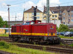 Die 202 330-7 (98 80 3202 330-7 D-RCCDE) der Rail Cargo Carrier - Germany GmbH (ehem.