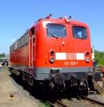 br-115-db-autozug/174327/die-115-152-1-die-erste-e10 Die 115 152-1 (die erste E10, die die Zulassung erhielt )am 14.08.2010 im Rheinischen Industriebahn- Museum (RIM) in Köln. Die Lok wurde 1957 unter der Fabrik-Nr. 18223 von Krauss-Maffei und elektr. von den Siemens-Schuckert Werk gebaut, die Z-Stellung erfolgte am 23.06.2009.