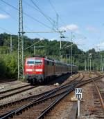 re-9-rhein-sieg-express/178274/111-010-kommt-mit-dem-re 111 010 kommt mit dem RE 9 (Rhein-Sieg-Express) am 20.08.2011 Köln und fährt gleich in denBf Betzdorf/Sieg.