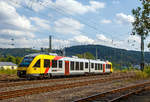 hlb-hessische-landesbahn-2/531569/der-dieseltriebzug-vt-251-95-80  Der Dieseltriebzug VT 251 (95 80 0648 151-8 D-HEB / 95 80 0648 651-7 D-HEB) ein Alstom Coradia LINT 41 der HLB (Hessische Landesbahn), ex Vectus VT 251, fährt am 10.09.2016 vom Bahnhof Betzdorf/Sieg, als RB 90 'Westerwald-Sieg-Bahn' die Verbindung Siegen - Betzdorf/Sieg - Au/Sieg - Altenkirchen - Westerburg, weiter in Richtung Au.