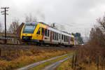 hlb-hessische-landesbahn-2/531580/der-dieseltriebzug-vt-267-95-80  Der Dieseltriebzug VT 267 (95 80 0648 167-4 D-HEB / 95 80 0648 667-3 D-HEB) ein Alstom Coradia LINT 41 der HLB (Hessische Landesbahn), ex Vectus VT 267, erreicht am 12.12.2016 bald den Bf. Unnau-Korb. Er fährt als RB 90  als RB 90 ' Westerwald-Sieg-Bahn' Siegen-Betzdorf-Au(Sieg)-Altenkirchen-Hachenburg-Westerburg.
