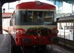 x-4300/532829/mit-ehemaligen-triebzuegen-der-sncf-an Mit ehemaligen Triebzügen der SNCF an den Weihnachtsmarkt Basel am 17. Dezember 2016. Train Thur Doller Alsase mit XRABx 8508 + XBD 4395 im SNCF Bahnhof Basel, kurz nach der Ankunft. Foto: Walter Ruetsch