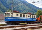 vigezzina-centovallibahn-ssif-und-fart/587355/der-be-44-18-der-ssif  Der Be 4/4 18 der SSIF Squadra Manutenzione, ex SSIF ABDe 4/4 18, ex BCFe 4/4 18, abgestellt beim Bahnhof Santa Maria Maggiore (Stazione SSIF di Santa Maria Maggiore) am 15.09.2017.