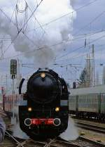 5519/173334/die-luxemburger-cfl-5519-am-03042010 Die Luxemburger CFL 5519 am 03.04.2010 im Hauptbahnhof Trier. Anlässlich des Dampfspektakels 2010. Die Lok war ursprünglich als 42 2718 für die Deutsche Reichsbahngesellschaft vorgesehene, wurde aber nicht bis zum Ende des Krieges nicht fertig. 1948 wurde sie von Wiener Lokomotivfabrik, Wien-Floridsdorf fertiggestellt. Sie hat eine Leistung 1.800 PS und eine Höchstgeschwindigkeit von 80 km/h.