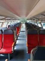 Personenwagen/283028/innenansicht-vom-cfl-12-klasse-doppelstockwagen Innenansicht vom CFL 1./2 Klasse Doppelstockwagen DABpza (50 82 36-70 029 -2), am 16.06.2013 auf der Strecke Ettelbrück-Luxemburg.   Hier ein Blick ins Oberdeck, in die 1. Klasse, besser sitzen tut man hier wohl nicht, die Sitze haben nur eine andere Farbe.