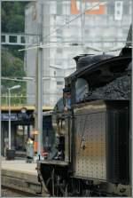 a-3-5/183192/konzentriert-schaut-der-meister-der-a Konzentriert schaut der Meister der A 3/5 auf den Fahrweg.  Biel/Bienne, 25.06.2011