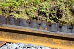 BRB Brienz Rothornbahn/532847/brienz-rothornbahn-ansicht-auf-eine-doppelte  Brienz Rothornbahn: Ansicht auf eine doppelte Zahnstangen vom System Abt, direkt oberhalb der Mittelstation Planalp, am 24.09.2016. Die Zahnteilung der Zahnstange beträgt 120 mm.