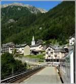 TMR Transports de Martigny et Regions/176932/ankunft-des-mont-blanc-express-im-bahnhof Ankunft des Mont-Blanc Express im Bahnhof von Finhaut. 03.08.2008 (Hans)