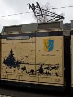 be-26-stadler-gtw-26/183676/detail-antriebeinheit-des-be-26-- Detail: Antriebeinheit des Be 2/6 - 7001 (Stadler Elektrischer Niederflur-Doppelgelenk-Leichttriebwagen Typ GTW 2/6) der MVR (Transports Montreux–Vevey–Riviera) ex CEV (Chemins de fer électriques Veveysans), hier am 26.02.2012 im Bahnhof Blonay.